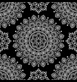 dot painting monochrome seamless pattern vector image vector image