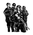 drawing police are protecting in usa vector image vector image