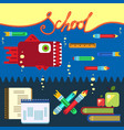 education concept poster in flat style design vector image