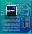 eelectric board background vector image vector image