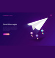email message service isometric marketing concept vector image