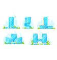 facades business centers and shopping malls vector image