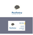 flat brain logo and visiting card template vector image vector image