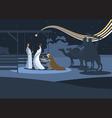 flat nativity scene b vector image vector image