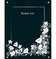 floral card hand drawn retro flowers and leaves on vector image vector image