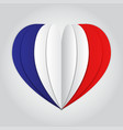 france flag paper cut heart independence day vector image