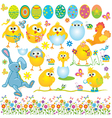 Funny Easter set vector image vector image