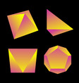 glossy platonic solids set vector image vector image