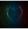 Glowing smoke heart vector image