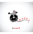 Happy Birthday postcard with your mouse vector image vector image
