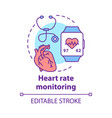 heart rate control concept icon cardiological vector image vector image