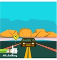 Hitchhiking tourism vector image