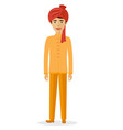 indian man flat cartoon man vector image vector image