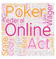 Is Online Poker Legal text background wordcloud vector image vector image