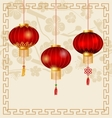 Japanese or Chinese Background with Lanterns and vector image vector image