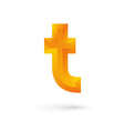 Letter T logo icon design template elements vector image vector image