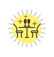 Linear Icon Restaurant vector image