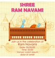 Lord Rama in Ram Navami background vector image vector image