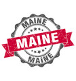 maine round ribbon seal vector image vector image