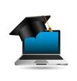 online education cap graduation icon vector image vector image
