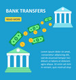online transfers between banks flat design vector image vector image