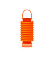 orange chinese lantern decorative element for vector image vector image