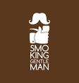 pipe smoker like thumb up vector image