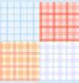 plaid pattern seamless vector image vector image