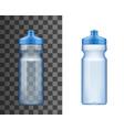 plastic water bottle sport drink 3d mockup vector image