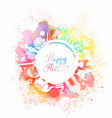 postcard for holiday holi in india vector image