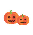 pumpkins with triangular eyes and sharp canines vector image vector image