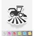 realistic design element combine-harvester vector image vector image