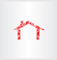 red house geometric triangles vector image vector image