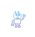 robot assistant line icon vector image