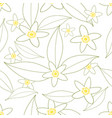 seamless pattern of orange blossom flowers vector image vector image