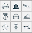 shipping icons set collection of taxi stoplight vector image vector image