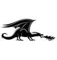 sign a black dragon vector image vector image