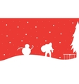 Silhouette of Santa with snowman Christmas