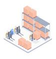 smart warehouse isometric vector image