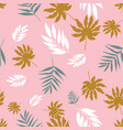 soft pastel tropical leaves seamless vector image vector image