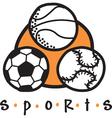 Sports gear logo vector image