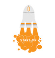 start up computer mouse as rocket vector image vector image