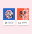 summer festival posters template vector image vector image