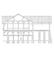 the pennsylvanian barn frame work commercial vector image vector image