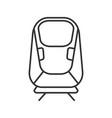 transrapid linear icon vector image vector image
