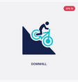 two color downhill icon from activities concept vector image vector image