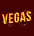 vegas vintage 3d lettering vector image