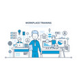 workplace training data knowledge teaching vector image vector image