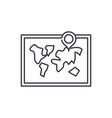 world map line icon concept world map vector image