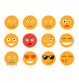Emoticon Set emoticon face on a white background vector image